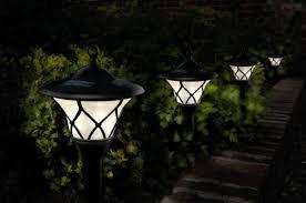 outdoor solar patio lighting lights for a beautiful garden low impact living