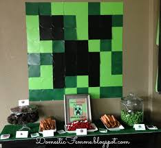 Minecraft Party Decorations How To Plan A Minecraft Birthday Party Stylish Life For Moms