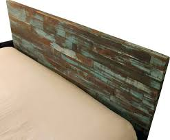 breathtaking reclaimed wood headboards headboard green and blue queen wooden furniture
