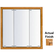 kraftmaid traditional 29 in x 28 in square surface recessed mirrored wood medicine