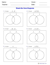 A Ub Venn Diagram This Venn Diagram Worksheet Is A Great Template Using Two Sets Use