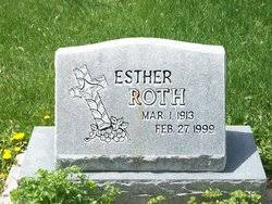 Esther Amen Roth (1913-1999) - Find A Grave Memorial