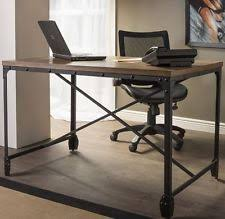 industrial home furniture. Rustic Computer Desk Writing Table Industrial Home Office Furniture Wood Metal