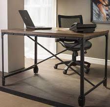 industrial office desk. Rustic Computer Desk Writing Table Industrial Home Office Furniture Wood Metal