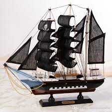 2018 wooden pirate ship model office decorations craft canvas sailboat solid wood sailing large medium size handcrafts model ornament from simohomestroe