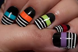 How To Do Nail Art With Sellotape - Nail Art Ideas