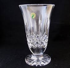 waterford lismore vase blown glass ireland vertical cut pedestal 85 inch new waterford lismore vase d87
