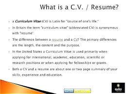 Resume Vs Curriculum Vitae Stunning Cv Means Resumes Resume Vs Difference This Is Curriculum Vitae Vita