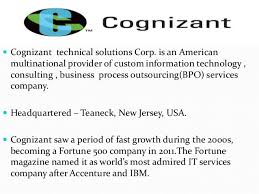 Cognizant New Jersey Cognizant Organizational Culture And Structure