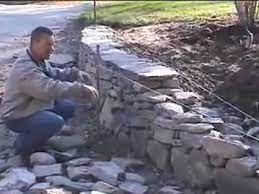 to build a new england fieldstone wall