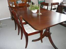Paramount Furniture Mahogany Dining Table and side board For Sale