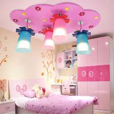 lighting for kids room. Girl Room Lighting Bedrooms Led Ceiling Lights Kids E14 Bulb 4 Heads Acrylic Lampshade Rainbow Wood Light Lamp-in From For D