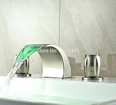 led bathroom faucet 3 hole bathroom faucet sink images led light waterfall holes basin mixer tap led bathroom faucet