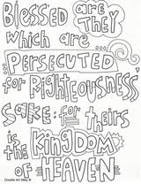 Small Picture Sermon on the Mount Coloring Pages Religious Doodles