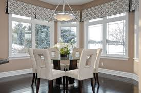 bay window valances dining room contemporary with bay black and white