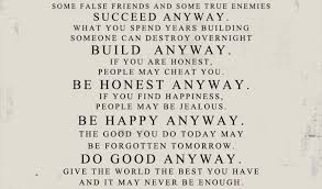 Mother Teresa Quotes Love Anyway Classy Love Anyway Quote From Mother Teresa To Print Best Quotes Everydays