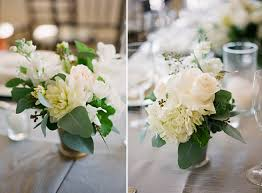 Fresh Green and White Centerpieces