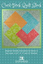 Card Trick Quilt Pattern Delectable Card Trick Quilt Block From Our Free Quilt Block Pattern Library