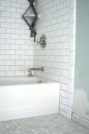 white subway tile bathroom shower shower niche tutorial shower niche white subway tileosaic glass