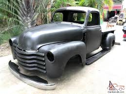 1947 Chevrolet Chev Chevy Pickup Hotrod Ratrod Custom Sled Black ...