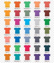 Gildan Shirt Color Chart 2016 Color Background Clipart Tshirt Shirt Color Transparent