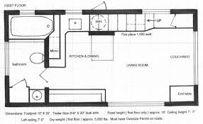 floor plan tiny house on wheels plans with no loft for adorable downstairs
