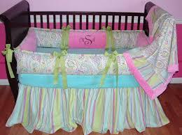 charming baby nursery room design using paisley baby girl bedding creative baby nursery room deco9ration
