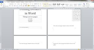 Word 2010 Make Objects Span Across Two Pages In A Booklet
