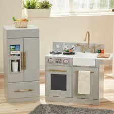 wooden kitchen set regarding play sets accessories you ll love wayfair decorations 17