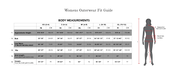 Size Charts For 686 Apparel