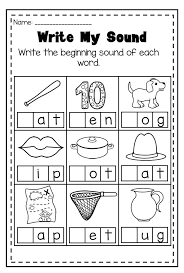Medial Sounds Worksheets For Kindergarten Download Them And Try To ...