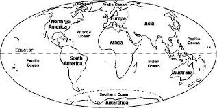 Small Picture Circle World Map Coloring Page NetArt
