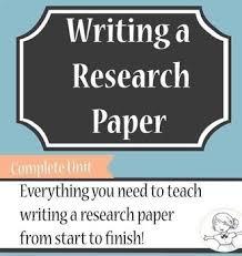 Research Paper Complete Unit