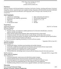 Free Resume Software Fascinating Software Developer Resume Sample Templates Stirring Summary Example