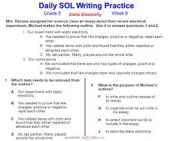 grade week daily sol writing practice provided by simply  1 grade