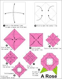 How To Make A Flower Out Of Paper Step By Step Easy Rose Origami Instructions