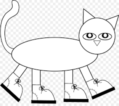 pete the cat coloring book cat coloring page child cat pattern printing