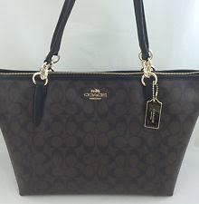 New Authentic COACH F58318 AVA Signature Tote Handbag Purse Shoulder Bag  Brown