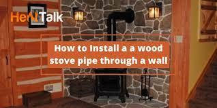 to install a wood stove pipe through a wall