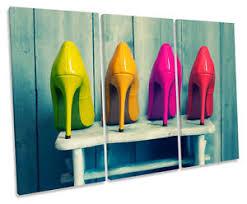 image is loading fashion high heels shoes shabby chic treble canvas  on shoe wall art high heels with fashion high heels shoes shabby chic treble canvas wall art box