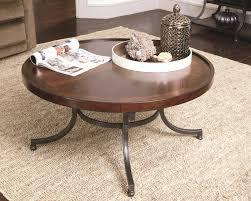 40 round coffee table with 4 wedge stools hammary barrow circular
