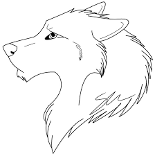 Small Picture 12 best Outline Wolves images on Pinterest Wolf Drawings and