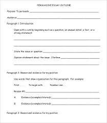 persuasive essay samples examples format  sample persuasive essay outline