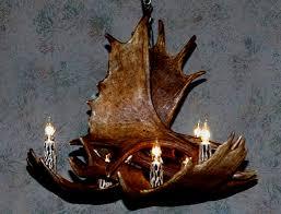 small moose antler chandelier