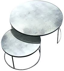round nesting coffee tables clear heavy aged mirror round nesting coffee table set nest of glass coffee tables uk