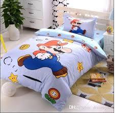 super mario twin bedding hot boys girls cartoon super cotton children bedding set kid bedding super mario twin bedding