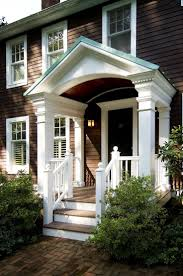 like the porch railings here. Portico: a large porch usually with a  pediment roof supported by classical columns or pillars.