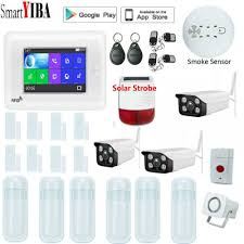 SmartYIBA 4.3Inch WiFi 3G GSM Alarm Security System LCD Color ...