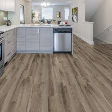Vinyl Plank Flooring Kitchen Trafficmaster Take Home Sample Weathered Stock Chestnut