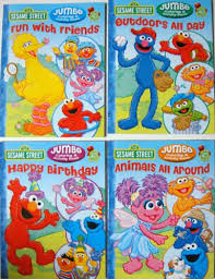 Sesame Street Coloring Activity Book Set Of 4 Books Toy In